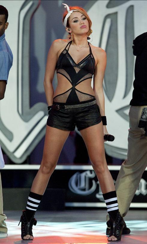Miley Cyrus Hot Dress Sexy Still