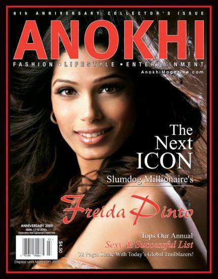 Freida Pinto On The Cover Page Of Anokhi