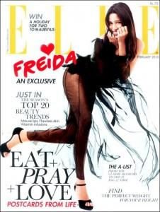 Freida Pinto Elle Magazine Hot Still