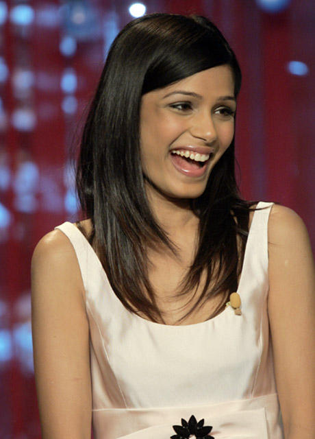 Freida Pinto Silky Hair Open Smile Pic