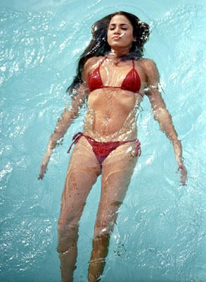 Nikki Reed In Red Bikini Under Water Photo