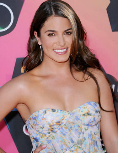 Nikki Reed Strapless Dress With Smiling Pics