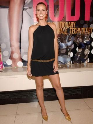 Heidi Klum Short Dress Black Nice Pics