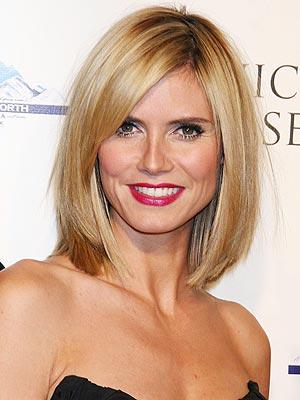 Heidi Klum Sizzling Face Look With Red Lips Nice Pics