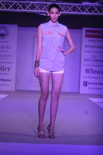 Models Walk Ramp at Anita Dongre Cotton Council Fashion Show