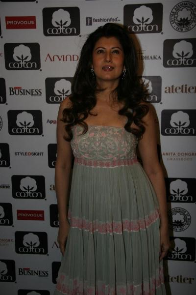 Sangeeta Bijlani at Cotton Council Fashion Show