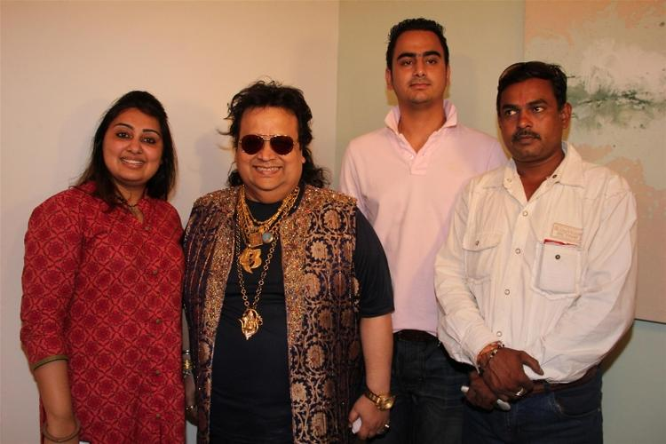 Bappi At The Grand Mahurat Of Madmidaas Films Main Aur Mr Right