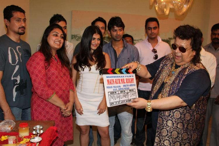 Shenaz,Barun And Bappi At The Inaugural Of Madmidaas Films Main Aur Mr Right