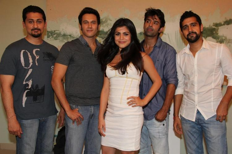 Shenaz,Barun,Danny And Kavi At Mahurat Of The Film Mai Aur Mr Right