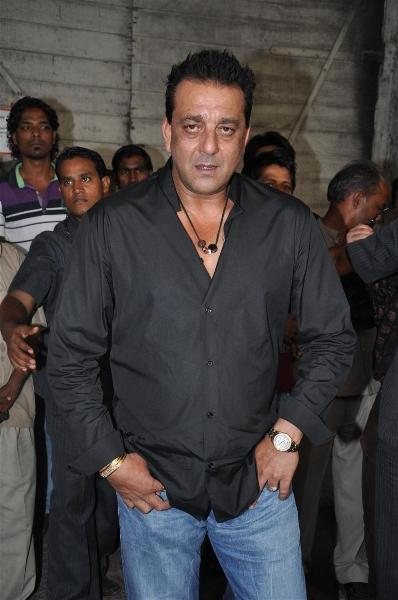 Sanjay Dutt Hot Look With Black Shirt and Jeans