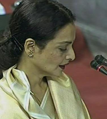 Rekha Takes Oath In Rajya Sabha MP