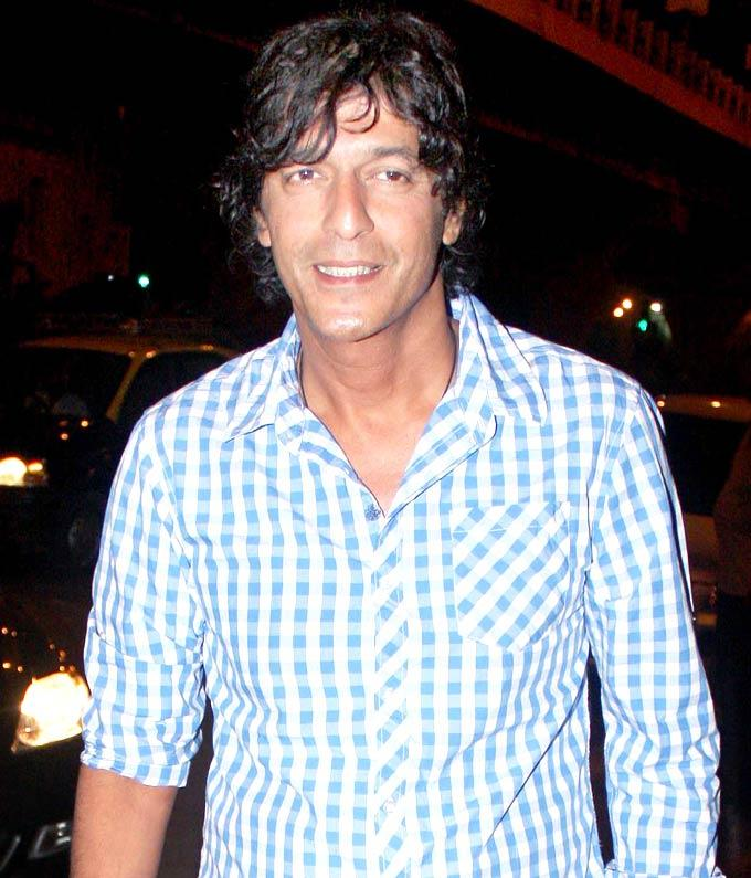 Chunkey Pandey at Success Party for The Forest