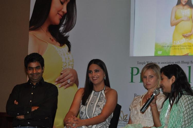 Actress Lara Dutta With Others During The Prenatal DVD Launch Event