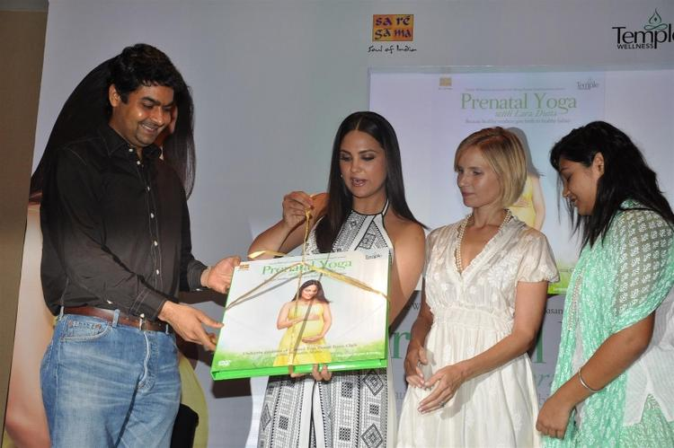 Bollywood Actress Lara Dutta During The DVD Launching Event