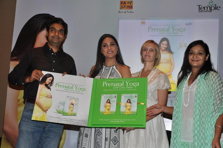 Lara Dutta Launches Prenatal Yoga DVD