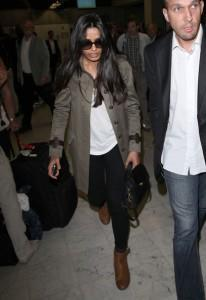 Bollywood Actress Freida Pinto At Nice Airport