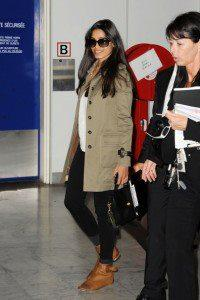 Stylist Freida Pinto Glamour Look At Nice Airport