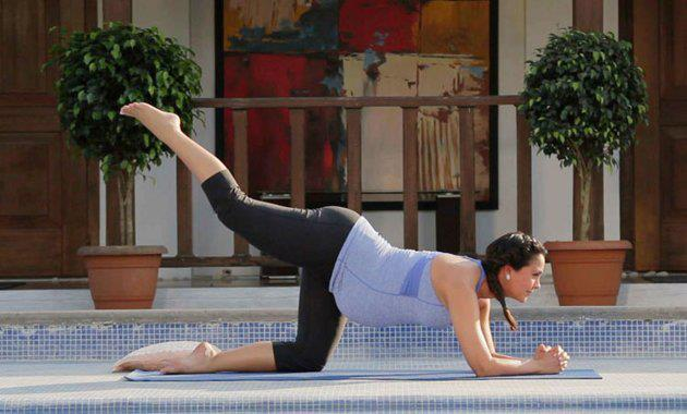 Hot Lara Dutta Photoshoot for Prenatal Yoga DVD