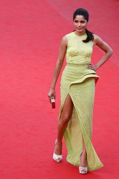 Freida Pinto Looking Amazing On Red Carpet At Cannes