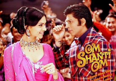 Deepika Padukone and Srk Cute Pic In Om Shanti Om