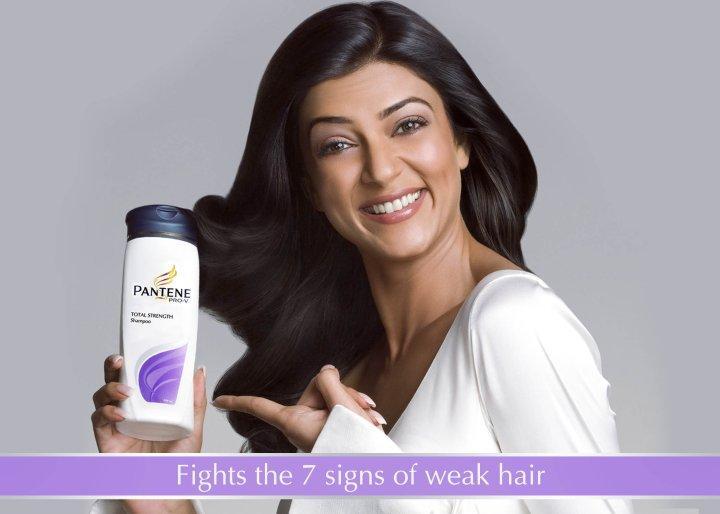 Sushmita Sen Pantene Shampoo Ad Wallpaper