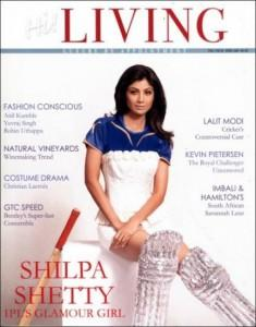 Shilpa Shetty On The Cover Page Of Living Magazine