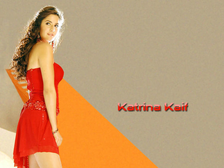 Katrina Kaif In Sexy Red Dress Gorgeous Wallpaper