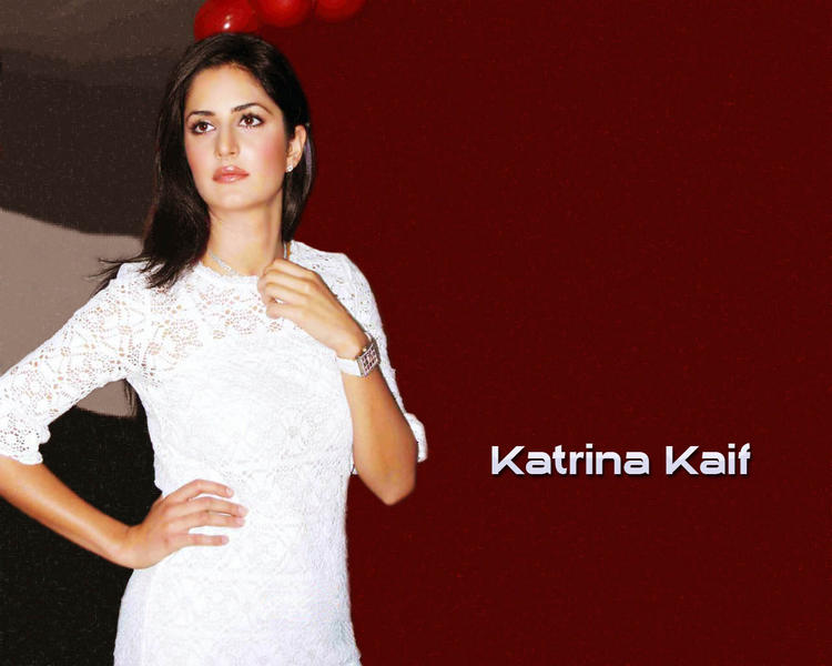 Katrina Kaif In White Dress Gorgeous Wallpaper