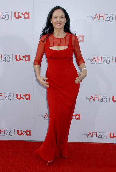 Sonia Braga Red Color Dress Hot Photo