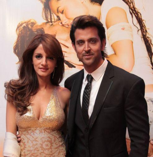Hrithik Roshan and Suzanne at Kites Movie Premiere
