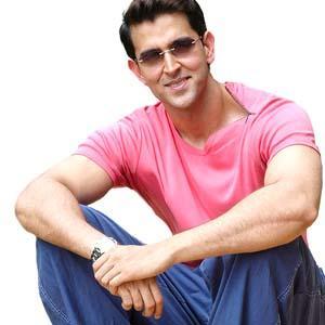 Hrithik Roshan In Pink T Shirt Beauty Still