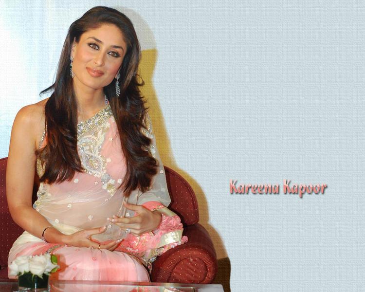 Kareena Kapoor Sweet Wallpaper In Pink Transparent Saree