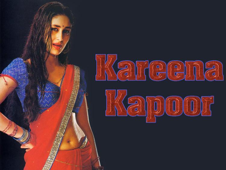 Kareena Kapoor Wallpaper In Sexy Saree