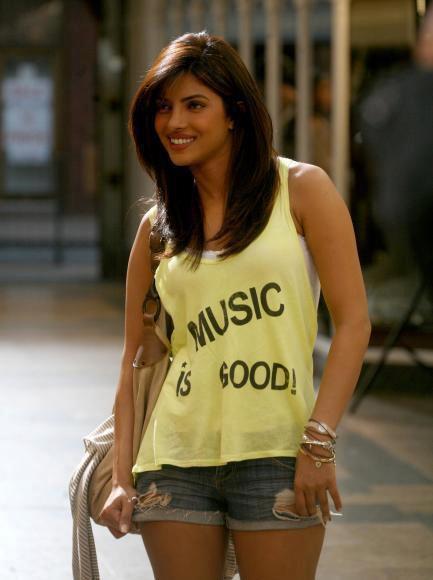 Priyanka Chopra Short Dress With Smiling Stills