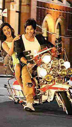 Shahid With Priyanka Wonderful Pics On A Bike