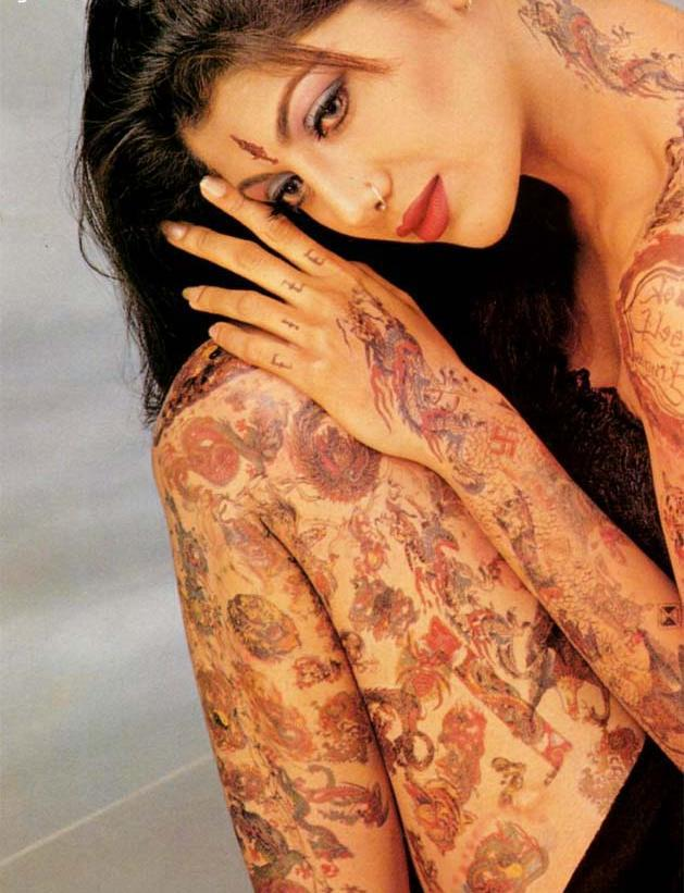 Shilpa Shetty Tattoo Show Wallpaper