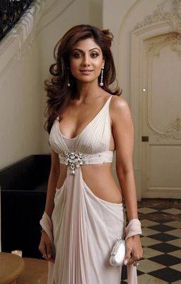 Shilpa Shetty White Dress Sexy Pics