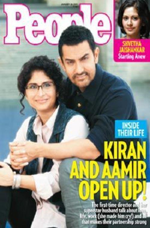 Aamir Khan and Kiran Magazine Still