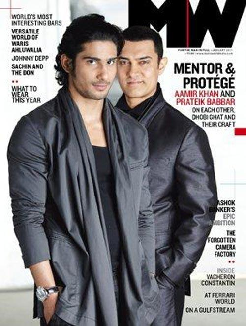 Aamir Khan and Pratik magazine Still
