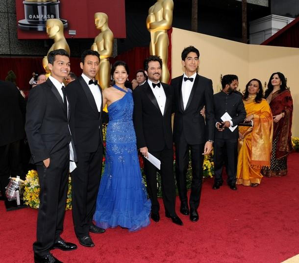 Anil Kapoor With Freida and Dev at Oscars