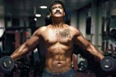 Ajay Devgn Six Pack For Singham