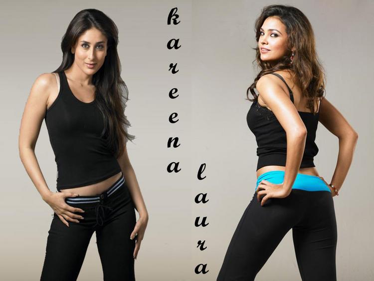 Lara Dutta and Kareena Hot Stylist Wallpaper
