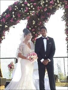 Lara Dutta and Mahesh Wedding Pic