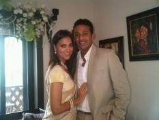 Mahesh Bhupthi and Lara Dutta Poses For Photo Shoot