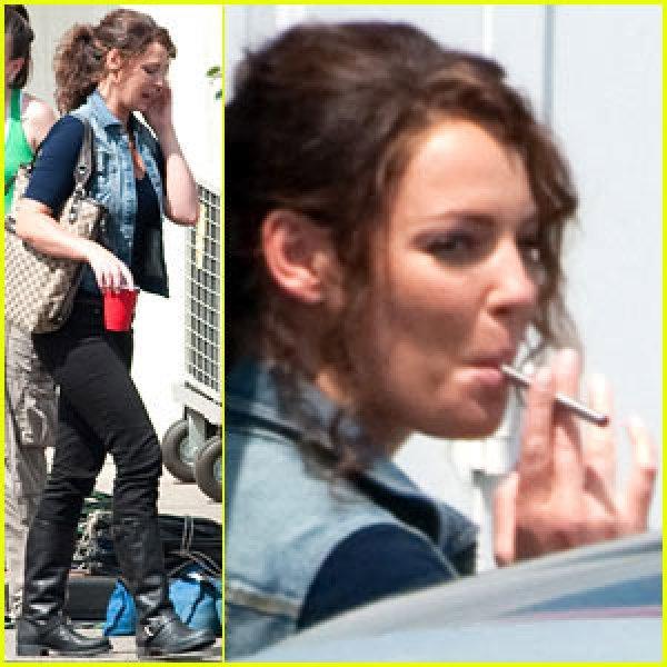 Miley Cyrus Cigarette Smoking Still