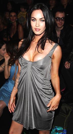 Megan Fox Glazing Gray Color Dress Gorgeous Pic