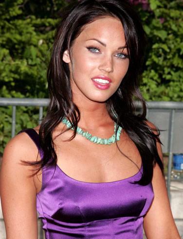 Megan Fox Gorgeous Pic In Purple Color Dress