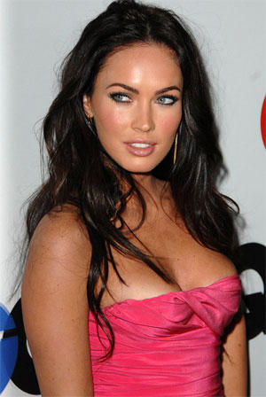 Megan Fox Open Boob Pic In Pink Strapless Dress