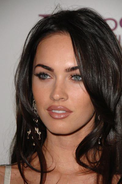 Megan Fox Sexy Blue Eyes Look Still
