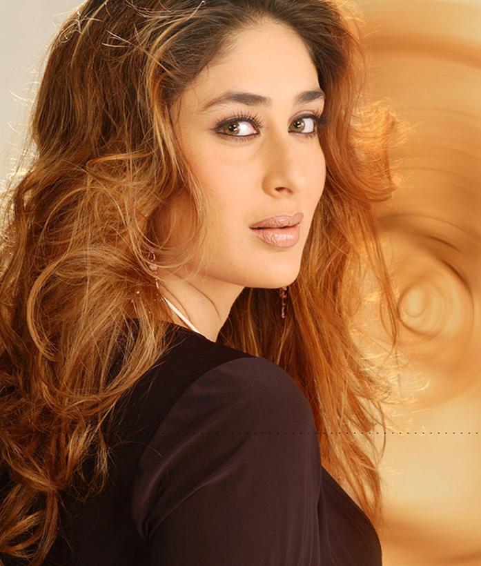 Kareena Kapoor Nice Look Pic In Brown Curly Hair